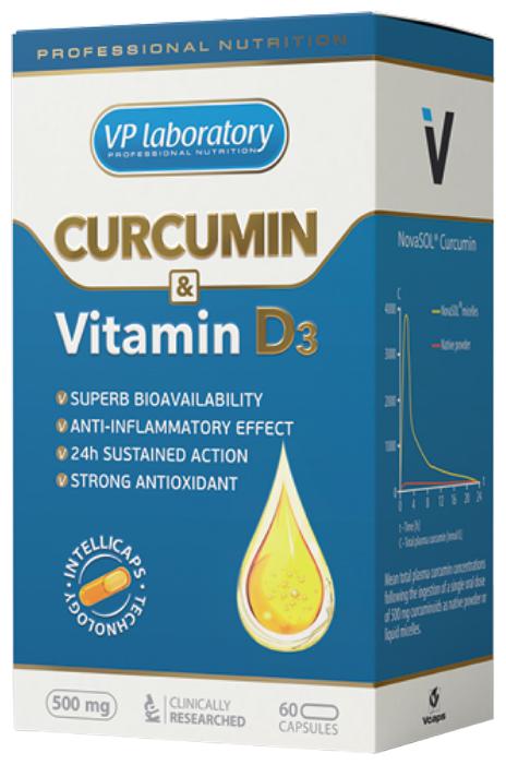 Витамин VP Laboratory Curcumin & Vitamine D3 (60 капсул)