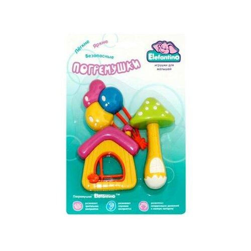 Купить Набор Elefantino 7737 желтый/зеленый/розовый, Погремушки и прорезыватели