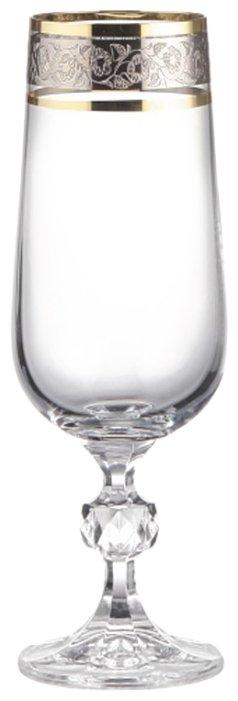 Bohemia Crystal Набор бокалов для шампанского Клаудия 180 мл 6 шт 43249