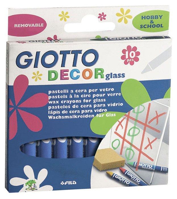 GIOTTO Восковые мелки Decor glass 10 цветов (441000)