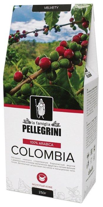 Кофе молотый la famiglia Pellegrini COLOMBIA