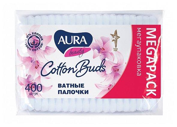 Палочки ватные Aura, 100шт. в упаковке, п/э пакет (1646/6470/6783)