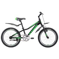 Велосипед Stark ROCKET 20.1 S (2018) чёрный/зелёный/тёмный-серый