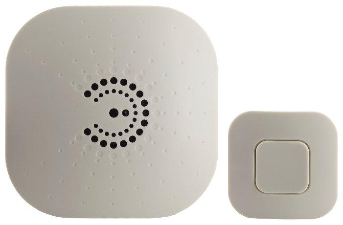 Звонок с кнопкой ЭРА BIONIC Ivory электронный беспроводной (количество мелодий: 6)
