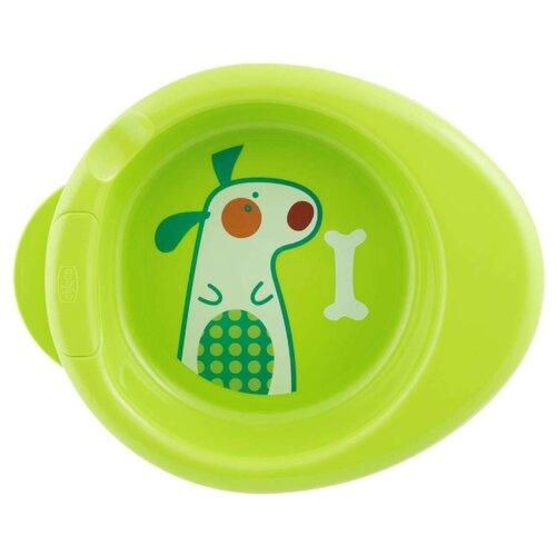 Купить Тарелка Chicco Stay Warm 6 м+ зеленый, Посуда