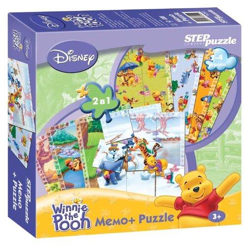 Настольная игра Step puzzle Медвежонок Винни Мемо+Puzzle (Disney)