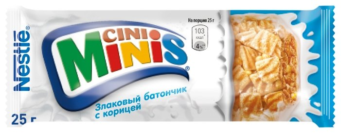 Батончик Nestle Cini Minis злаковый с корицей, 25 г.