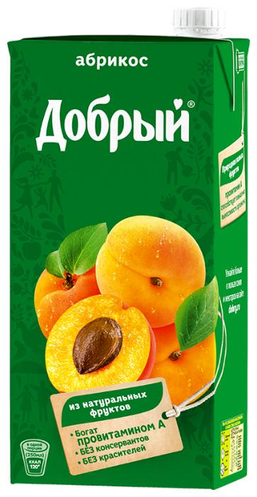 Нектар Добрый персик-яблоко с мякотью, 1 л.