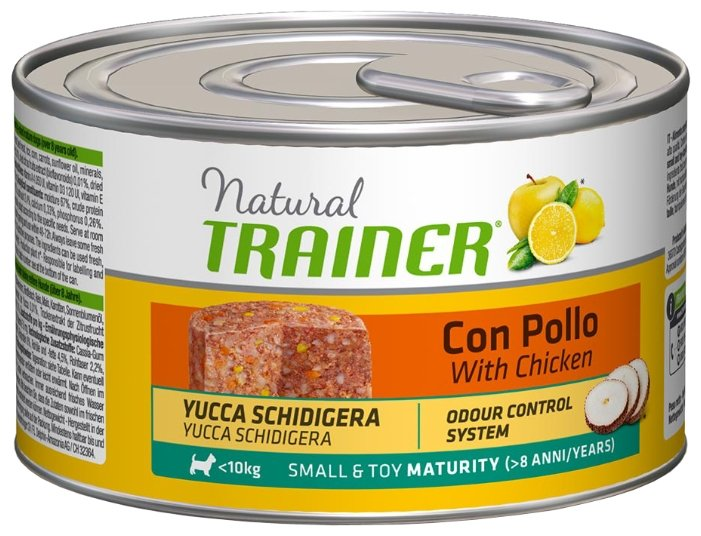 Корм для собак TRAINER Natural Small&Toy Maturity Chicken canned