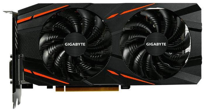 GIGABYTE Видеокарта GIGABYTE Radeon RX 580 1340MHz PCI-E 3.0 8192MB 8000MHz 256 bit DVI HDMI HDCP Gaming Mi