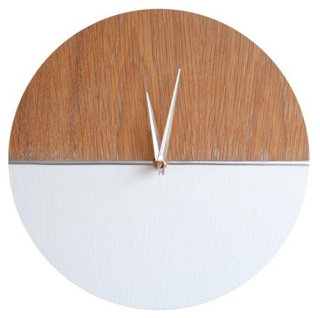 Часы настенные кварцевые Roomton MidCentury Silver