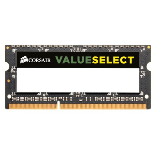 Фото - Оперативная память Corsair ValueSelect DDR3 1600 (PC 12800) SODIMM 204 pin, 4 GB 1 шт. 1.5 В, CL 11, CMSO4GX3M1A1600C11 оперативная память corsair xms ddr3 1600 pc 12800 dimm 240 pin 8 гб 1 шт 1 5 в cl 11 cmx8gx3m1a1600c11