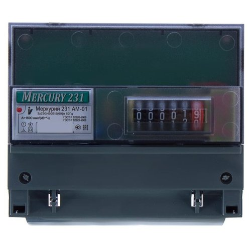 Счетчик электроэнергии трехфазный однотарифный INCOTEX Меркурий 231 AM-01 5(60) А