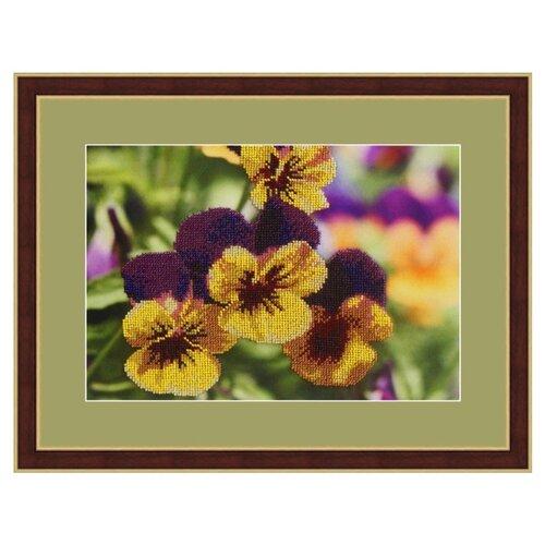 Купить Galla Collection Набор для вышивания бисером Анютины глазки 30 х 20 см (Л316), Наборы для вышивания