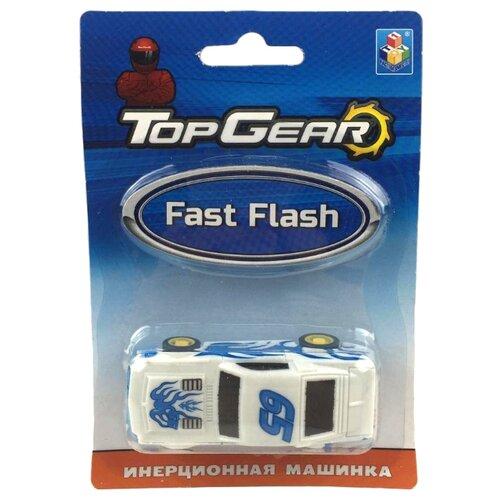 Легковой автомобиль 1 TOY Top Gear Fast Flash (Т10329) 8 см белый