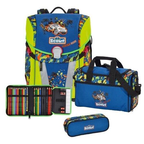 Купить Scout Ранец с наполнением SUNNY EXKLUSIV 4 предмета, desert race, Рюкзаки, ранцы