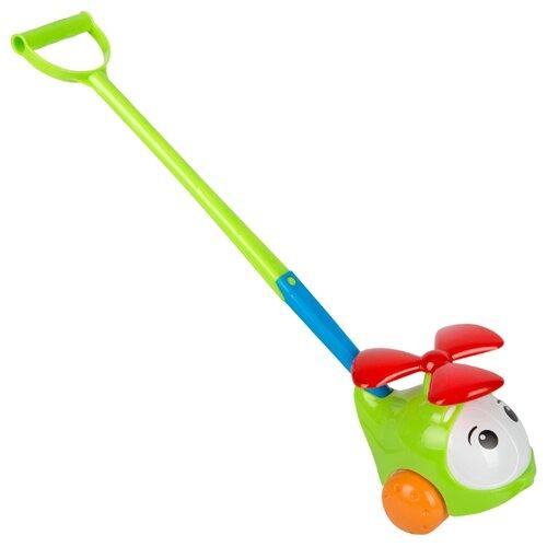 Каталка-игрушка Stellar Вертолетик (01376) со звуковыми эффектами зеленый