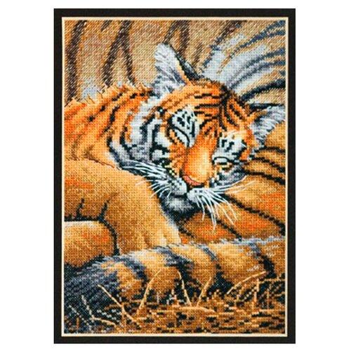 Купить Dimensions Набор для вышивания крестиком Спящий тигренок 13 х 18 см (70-65105), Наборы для вышивания