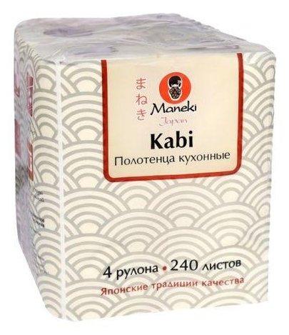 Полотенца бумажные Maneki Kabi белые двухслойные