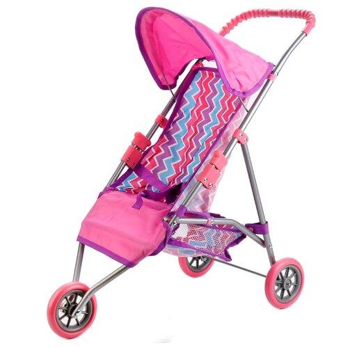 Купить Прогулочная коляска Карапуз 63CG-C1 розово-фиолетово-голубой, Коляски для кукол