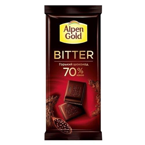 Шоколад Alpen Gold Bitter горький 70%, 85 гШоколадная плитка<br>