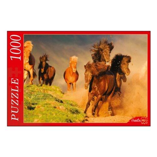 Пазл Рыжий кот Табун лошадей (КБ1000-6916), 1000 дет.