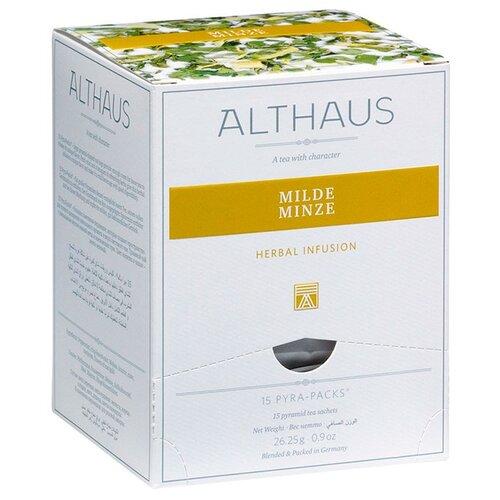 Чай травяной Althaus Milde Minze в пирамидках, 26.25 г, 15 шт. чай травяной леторос ромашка целебник в пирамидках 20 шт