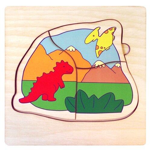 Рамка-вкладыш Мастер игрушек Мир динозавров (IG0144) , элементов: 10 шт.Пазлы<br>