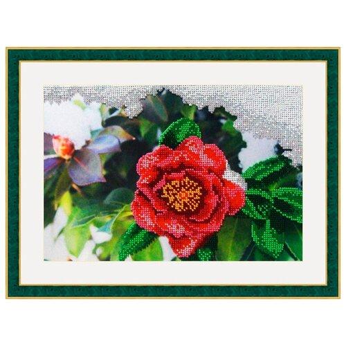 Galla Collection Набор для вышивания бисером Японская роза 27 х 18 см (Л317) набор для вышивания galla collection бисером икона спас нерукотворный 23 x 27 см