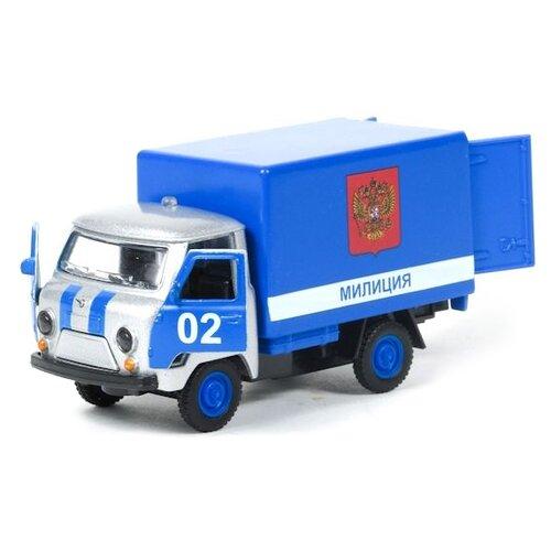 Купить Фургон ТЕХНОПАРК УАЗ 3303 Милиция (CT10-107-9) 1:43 синий, Машинки и техника