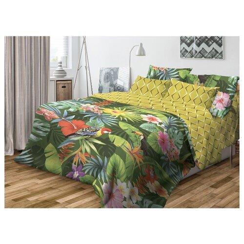 Постельное белье 2-спальное Волшебная ночь Tropic 717489 ранфорс зеленый/желтыйКомплекты<br>