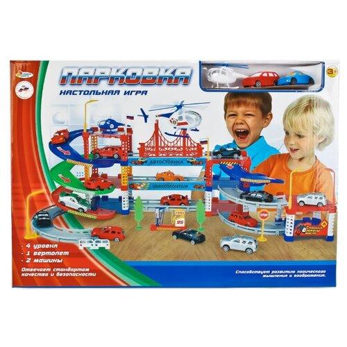 Купить Играем вместе Парковка B1455605-R красный/синий/зеленый/голубой/желтый/белый, Детские парковки и гаражи