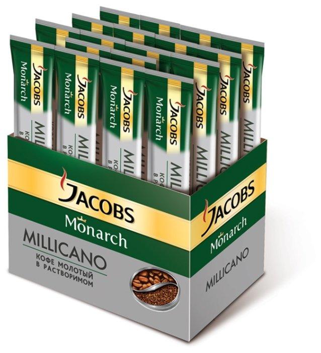 Растворимый кофе Jacobs Monarch Millicano молотый в растворимом, в стиках