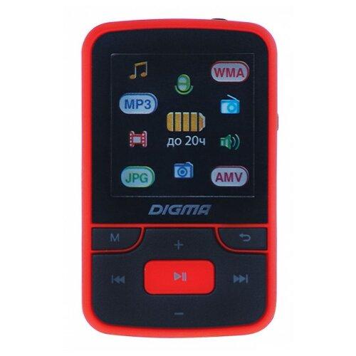 Плеер Digma T3 8Gb черный/красныйЦифровые плееры<br>