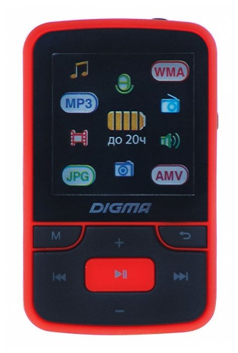 плеер МП3 Digma T3 8Gb (Black\Red)