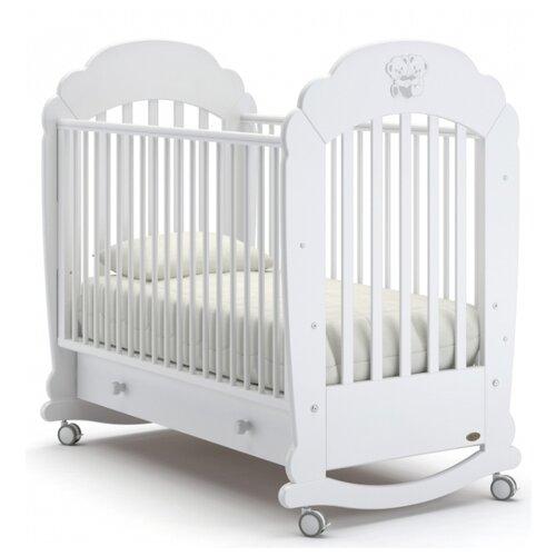 Кроватка Nuovita Parte (колесо) (качалка), на полозьях белый кроватка гандылян дашенька колесо качалка белый