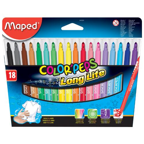 Купить Maped Фломастеры Color'Peps Long Life (845021), 18 шт.
