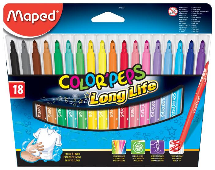 Maped Набор фломастеров Color'Peps Long Life 845021 (18 шт.)