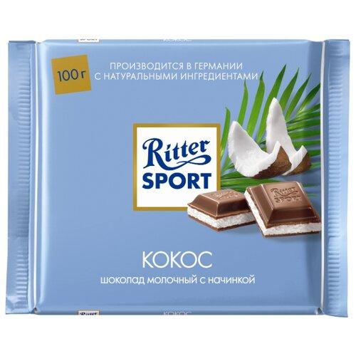 Шоколад Ritter Sport Кокос молочный, 100 г