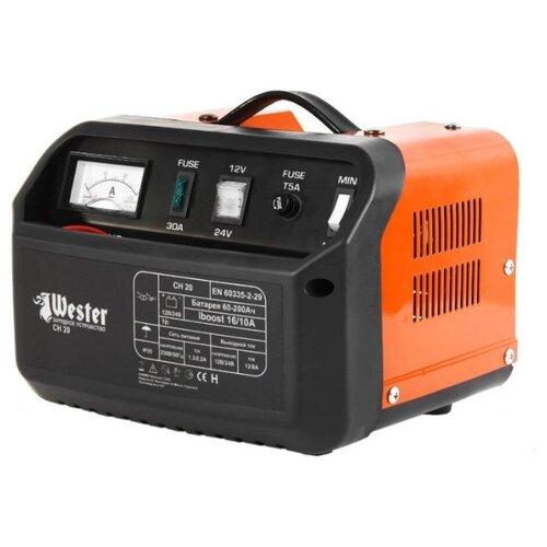Зарядное устройство Wester CH20 черный / оранжевый
