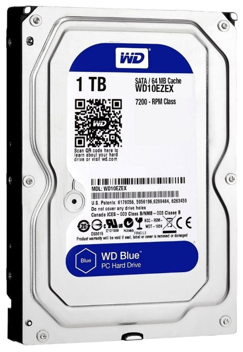 Жесткий диск 1Tb - Western Digital WD10EZEX Caviar Blue