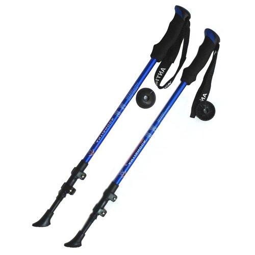 Палки для скандинавской ходьбы 2 шт. Hawk Телескопические F18445 синий/черный