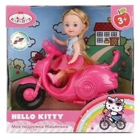 Кукла Карапуз Hello Kitty Моя подружка Машенька на скутере, 12 см, MARY0116-BB-HK