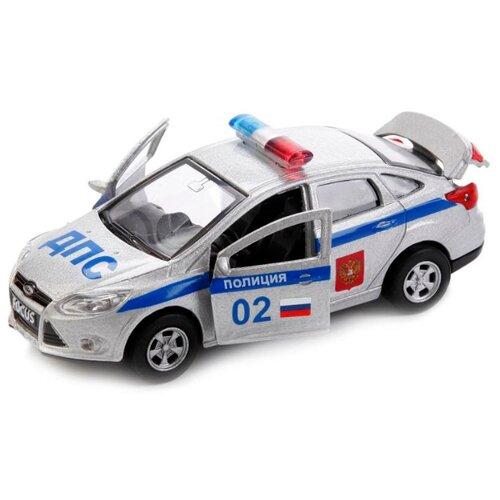 Купить Легковой автомобиль ТЕХНОПАРК Ford Focus Полиция (SB-16-45-P-WB) 12 см белый, Машинки и техника