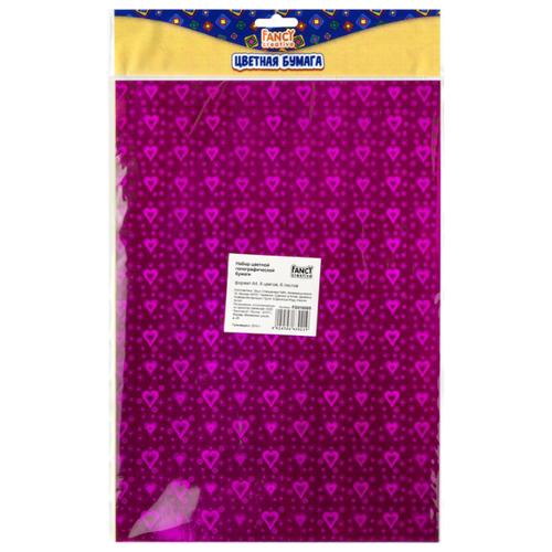 Купить Цветная бумага голографическая FANCY creative Action!, A4, 6 л., 6 цв., Цветная бумага и картон