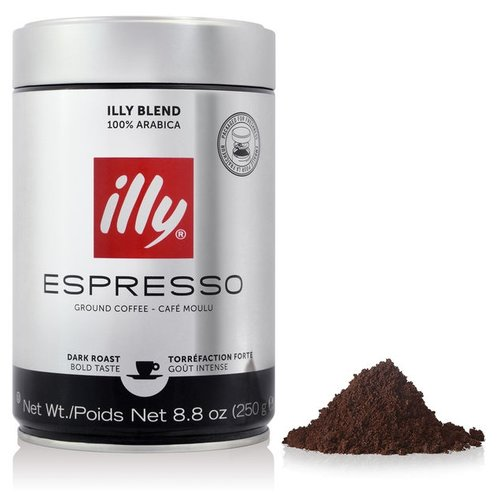 Кофе молотый Illy Espresso темная обжарка, 250 г illy espresso кофе молотый темной обжарки 125 г