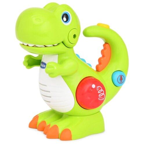 Купить Интерактивная развивающая игрушка Chicco Динозавр бело-зеленый, Развивающие игрушки
