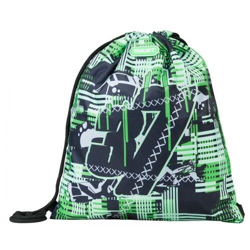 Купить Target Сумка для детской сменной обуви CONFUSED (21373) зеленый/черный, Мешки для обуви и формы