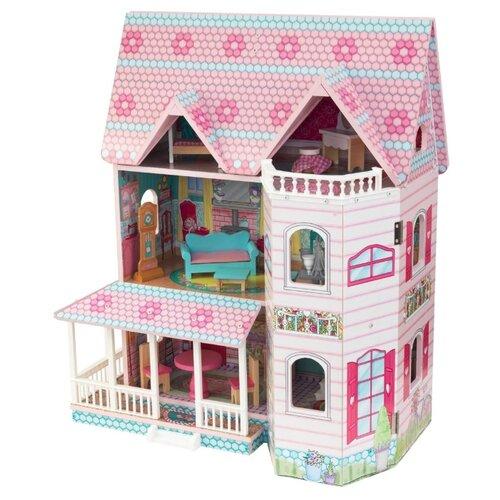 Купить KidKraft Особняк Эбби 65941, розовый/голубой, Кукольные домики