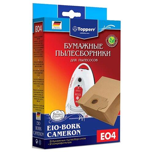 Фото - Topperr Бумажные пылесборники EO4 5 шт. topperr бумажные пылесборники sm5 5 шт